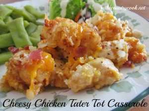 Cheesy Chicken Tater Tot Casserole (with graphics, thecountrycook.net)